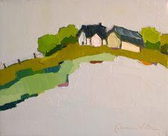 Hilltop Solace II. 8x10 Original Oil Painting. Donna Walker