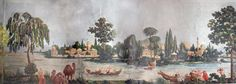 Joseph Dufour, Les Rives du Bosphore, ca. Silk Wallpaper, Grisaille, Chinoiserie, Joseph, Restoration, This Is Us, Old Things, Painting, Art