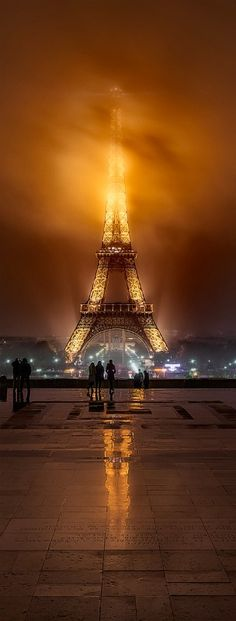 Foggy Night in PARIS, by Javier de la Torre on 500px
