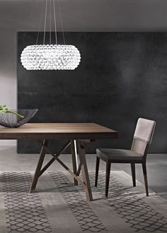 Zeus dining table fix or extendible designed by Giuliano e Gabriele Cappelletti for Pacini & Cappellini with base and structure in solid canaletto walnut. Modern Dining Table, Dining Tables, Marble Effect, Base, Coffee, Wood, Furniture, Design, Home Decor