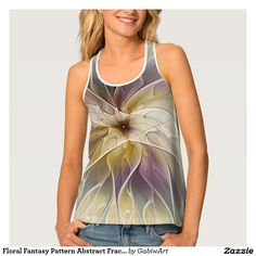 Floral Fantasy Pattern Abstract Fractal Art Tank Top