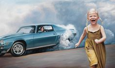 STREET GAMES – 70 Camaro, oil on canvas.