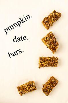 4-Ingredient Pumpkin Date Bars by katyskitchen.ca #vegan #glutenfree