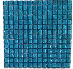 Gaby Azure Square Glass Tiles $15.99
