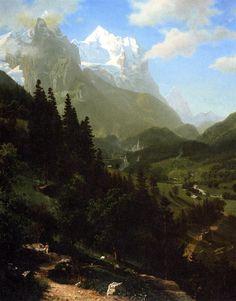 Albert Bierstadt Paintings | The Wetterhorn