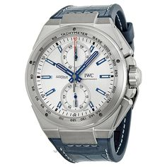 IWC Ingenieur Chronograph Racer Silver Dial Rubber Strap Mens Watch IW378509