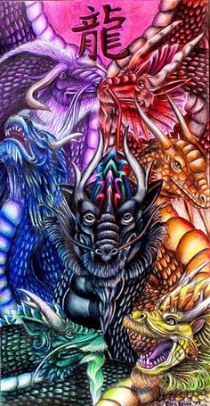 Chinese Dragons Painting
