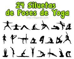 Recursos Photoshop: 24 Siluetas de Poses de Yoga