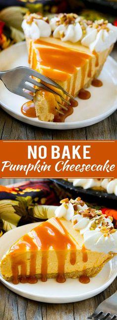 No Bake Pumpkin Cheesecake Recipe | Pumpkin Cheesecake | No Bake Cheesecake | Thanksgiving Dessert | Pumpkin Dessert
