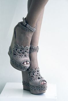 Alaia suede wedges studded splash limassol , available at Splash Beach, photo by Filep Motwary