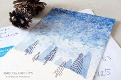 Snowy night – DIY Christmas card in 7 easy steps – IMELDA GREEN'S
