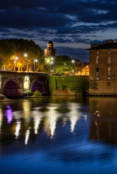 Night Lights in Toulouse, Midi-Pyrenees, France