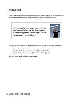 Writing task - career choice