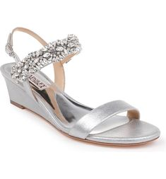 9 Bridal Accessories Youll Need on Your Wedding Day - Badgley Mischka Larisa wedge sandal, $235, Nordstrom