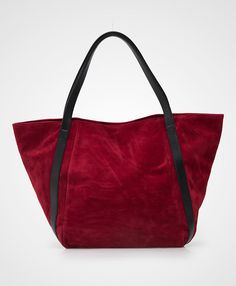 Red Beautiful Suede Bag by Primrose. A pretty tote bag that made from suede material and contrasted listed handle, this red tote bag sure look so gorgeous. Pair it with your semi casual afternoon outfit. http://www.zocko.com/z/JIbku