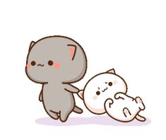 Pin on Cute gif Cute Couple Cartoon, Cute Cartoon Pictures, Cute Love Cartoons, Cute Chibi Couple, Cute Bear Drawings, Cute Cartoon Drawings, Cute Kawaii Drawings, Cute Anime Cat, Cute Cat Gif