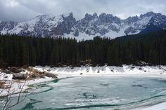 Lago di Carezza, lake, mountains, Dolomites, dolomiten, dolomiti, beautiful…