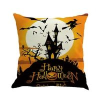 Happy Halloween Waist Throw 45x45cm Cushion Case For Home Decor Sofa Cushions Cojines Decorativos Almofadas Para Sierkussen