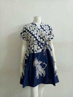 Blouse Batik, Batik Dress, Lace Dress, Short African Dresses, Short Gowns, Pretty Dresses, Beautiful Dresses, Batik Kebaya, Recycled Dress
