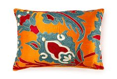 I love the bold colours on this cushion.