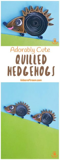 This Quilled Paper Hedgehog Craft is adorably cute! This quilling project is great for kid or adult beginners. There is a quilling design step by step photo tutorial so you can make your hedgehog quickly and easily. Such a sweet Fall craft idea! Paper Quilling For Beginners, Paper Quilling Tutorial, Paper Quilling Designs, Quilling Patterns, Paper Patterns, Animal Crafts For Kids, Paper Crafts For Kids, Crafts For Kids To Make, Crafts For Girls