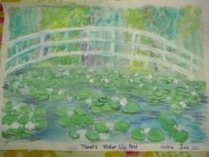 "CC Cycle 2, Week 16 - MONET: Our Monet inspired ""Water Lily Pond"" Paintings"