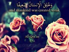 Islamic Daily: And Mankind Was Created Weak   Hashtag Hijab © www.hashtaghijab.com