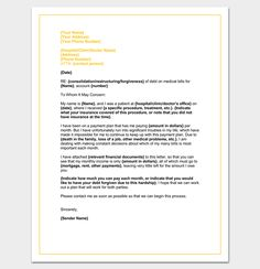 Hardship Letter To Creditors  Sample Example Format  Letter