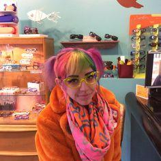 Elizabeth in her neon Theo's!