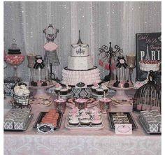 Write on canvas Paris bridal shower Party Ideas Pinterest