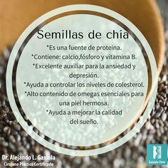 Hoy es miércoles de #información acerca de los alimentos. Conoce los beneficios de consumir semillas de chía.