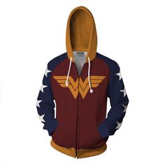 Movie Wonder Woman 1984 Jacket Cosplay Costume Adult Jacket Zipper Coat Hoodie Sweatshirt For Men Women Wonder Woman Superhero, Wonder Woman Shirt, Female Hero, Anime Outfits, Fashion Outfits, Outfits For Teens, Cosplay Costumes, Jackets For Women, Lovers
