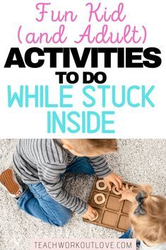 Need some new ideas to keep your family busy while you're stuck inside? We've got you covered! The post Fun Kid (and Adult!) Friendly Activities to Do While Stuck Inside appeared first on Teach. Indoor Activities, Activities To Do, Toddler Activities, Fun Crafts, Crafts For Kids, Toddler Crafts, Toddler Play, Gross Motor Skills, Happy Mom