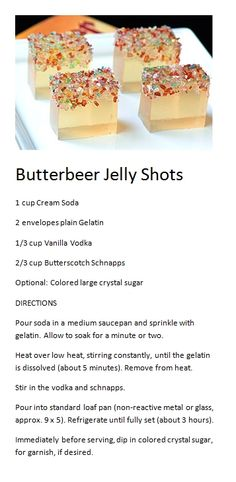 Butterbeer Jello Shots