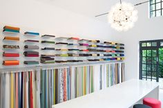 Explore our textiles in our showroom in Hamburg, Germany!