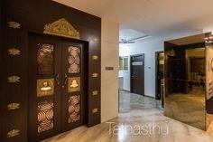 Indian Interior Design, Mandir Design, Pooja Room Door Design, Indian Interiors, Luxury Bedroom Design, Puja Room, Prayer Room, Antique Doors, Room Doors