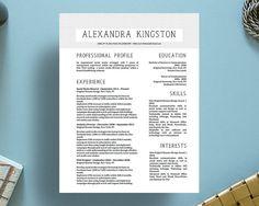 Alexandra Kingston Modern Fancy Resume + Cover Letter Template for Microsoft…