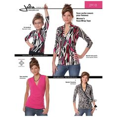 Faux-Wrap Top Jalie Sewing Pattern 2910.