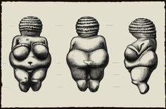 Illustration of the Venus of Willendorf from 3 sides. Digital Museum, Goddess Art, Gods And Goddesses, Ancient Art, Archaeology, Art History, Sculpture Art, Illustration, Google Search