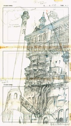 From Studio Ghibli Layout Designs