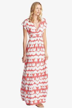 Cleo Maxi in Multi Tie-Dye Stripe