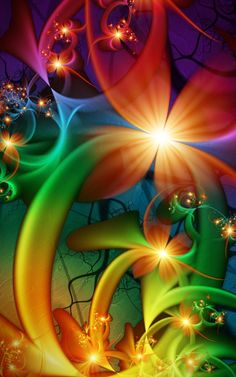 Fractal Art ~ a burst of colors!  ♥ ♥ www.paintingyouwithwords.com