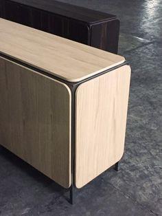 FRAME SIDEBOARD | Alain Gilles for Bonaldo -  sideboard metal wood graphic art structure furniture living room furniture color copper brass design prototype mock up