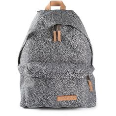 EASTPAK padded backpack ($58) ❤ liked on Polyvore featuring bags, backpacks, cheetah print backpack, padded bag, eastpak backpack, patterned backpacks and eastpak