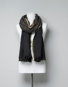 SCARF WITH JACQUARD BORDER