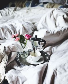Breakfast in bed is always a good choice.