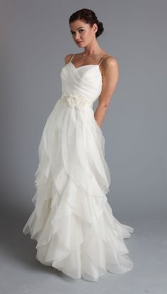 chiffon summer wedding dress