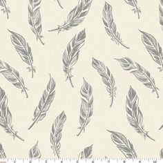 ab19c9b138e Natural Gray Feathers Fabric by Carousel Designs. Painting Patterns