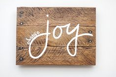 """Item Description: """"Choose joy"""" fuels hearts and homes around the world. This refreshed rustic sign will liven up any home or office while"""