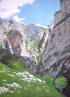 Uno de los ultimos cuadros al óleo pintados de los Picos de Europa.